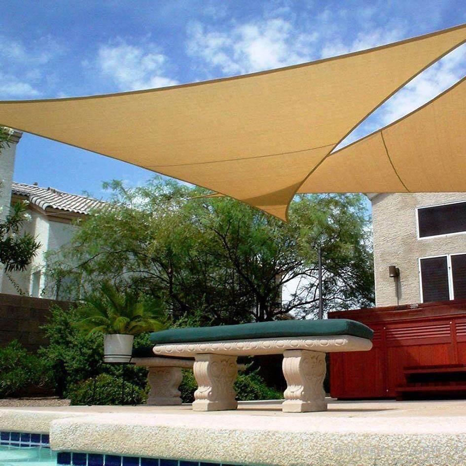Sand Triangle 185GSM HDPE Polyethylene Extra Heavy Duty Shade Sail Sun