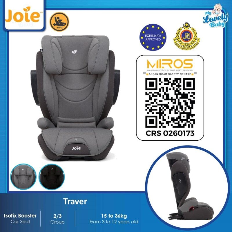 Joie Traver Booster Car Seat - Dark Pewter