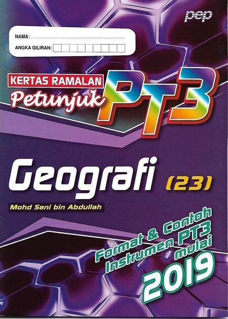Kertas Ramalan Petunjuk Pt3 Geografi By Talent Bookstore.