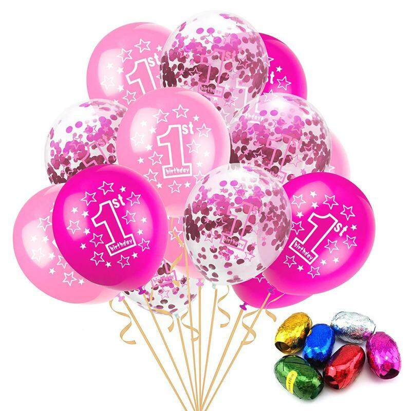 15pcs\12 Pcs Round 12 Inches Latex Number Balloons For Baby Baby 1 Year Old First Celebration Kids Toys 2nd Celebration By Darahry.