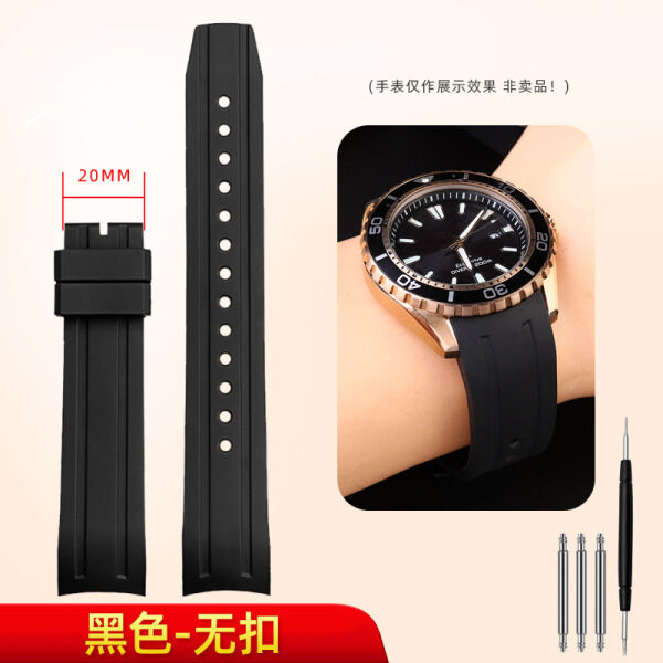 Compatible with Citizen diving watch BN0190|0193|0201|CA0718-13E mens fluororubber watch strap High-quality fluorine rubber will not stick to dust and will not break Malaysia