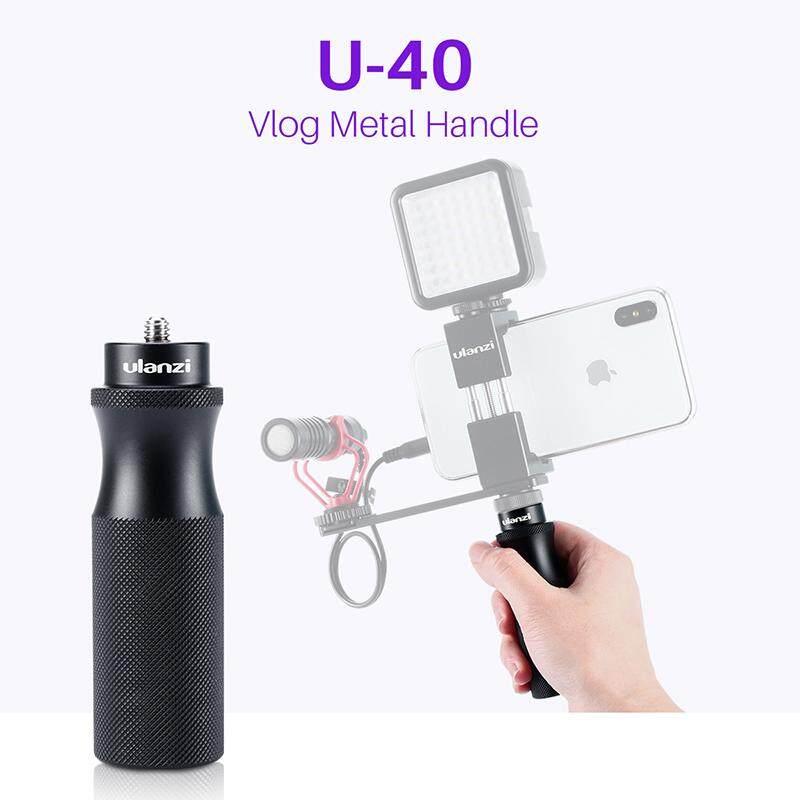 Ulanzi U-40 Vlog Tay Cầm Với 1/4 Giày Lạnh Mount Adapter Cho Micro LED Vlogging Bộ Âm Thanh Trực Tiếp Video Cầm Nắm Giá Tốt Không Nên Bỏ Lỡ