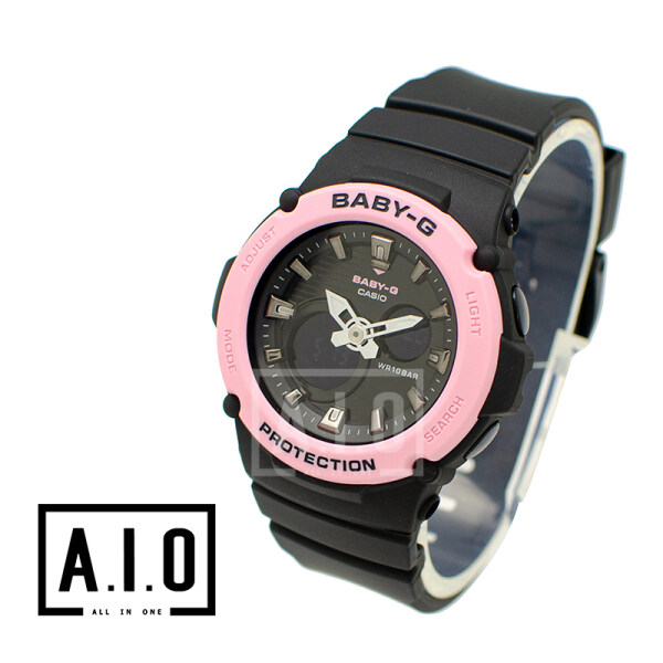 Casio Baby-G BGA270 Series in Pastel Colours Black Resin Band Watch BGA270-1A BGA-270-1A (jam tangan wanita / casio watch / casio watch women) Malaysia