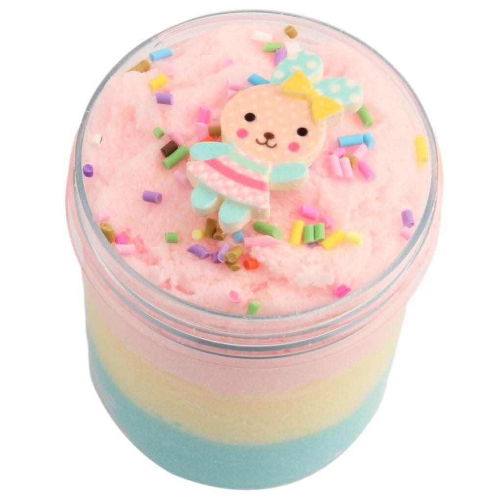 Jumbo Blue Birthday Candy Cake Fluffy Cloud Slime Scented Therapeutic Putty