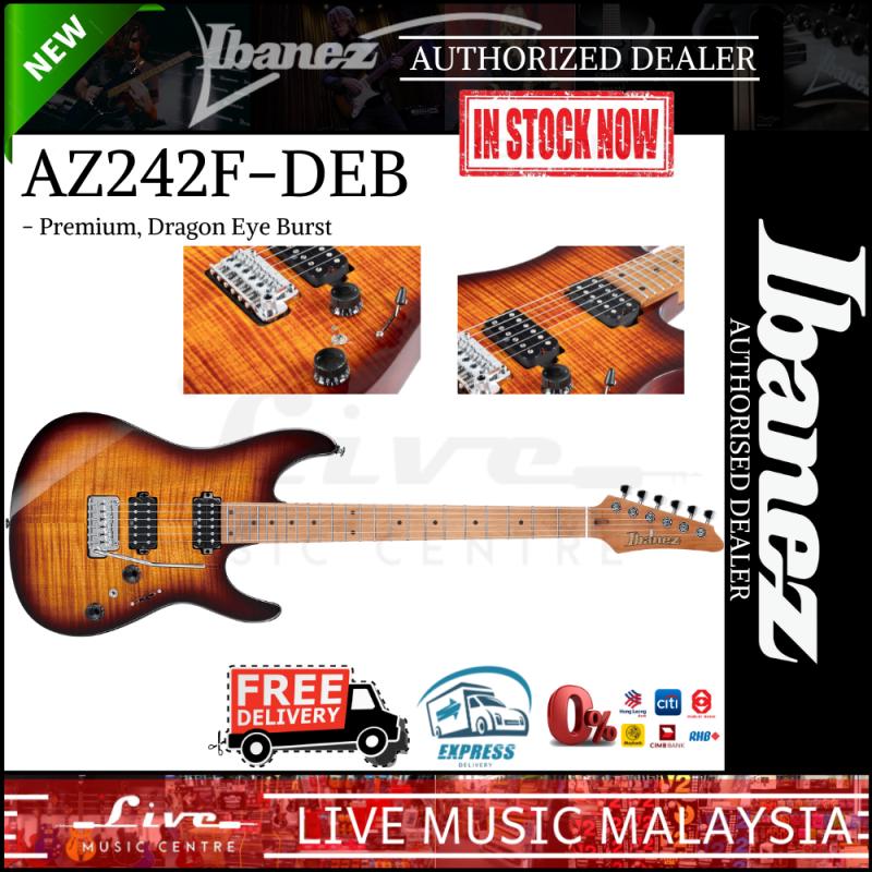Ibanez Premium AZ242F-DEB - Electric Guitar with Gig Bag, Dragon Eye Burst (AZ242F) Malaysia