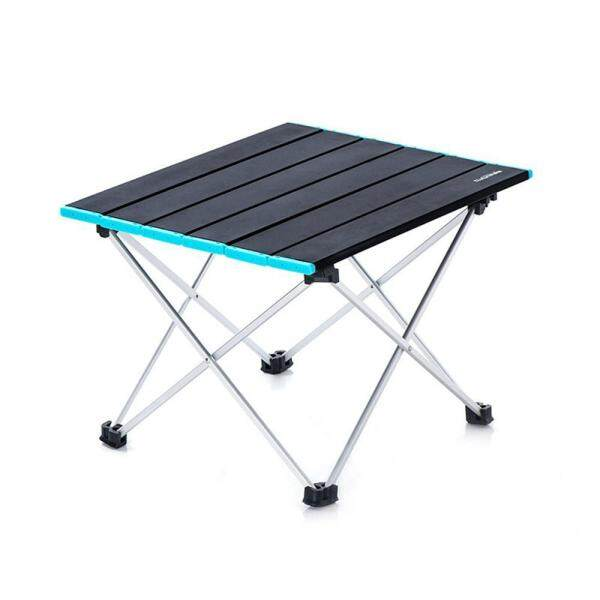 GoodGreat Portable Camping Side Tables with Aluminum Table Top: Hard-Topped Folding Table in a Bag for Picnic, Camp, Beach, Boat, Useful for Dining & Cooking with Burner, Easy to Clean