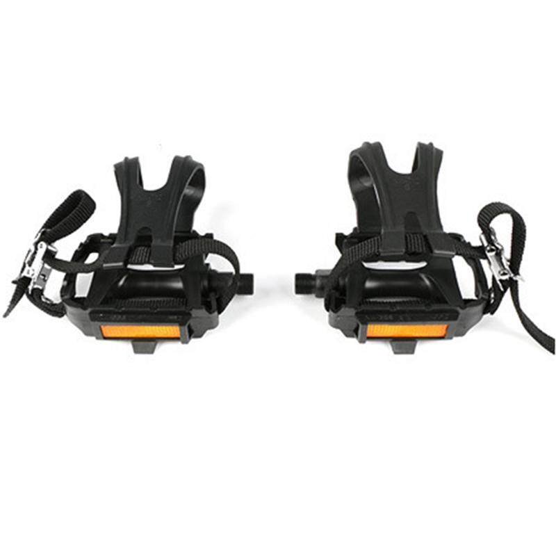 Bảng giá Bike Pedals with Clips and Straps for Outdoor Cycling and Indoor Stationary Bike Spindle Bicycle Multi-Purpose Pedals