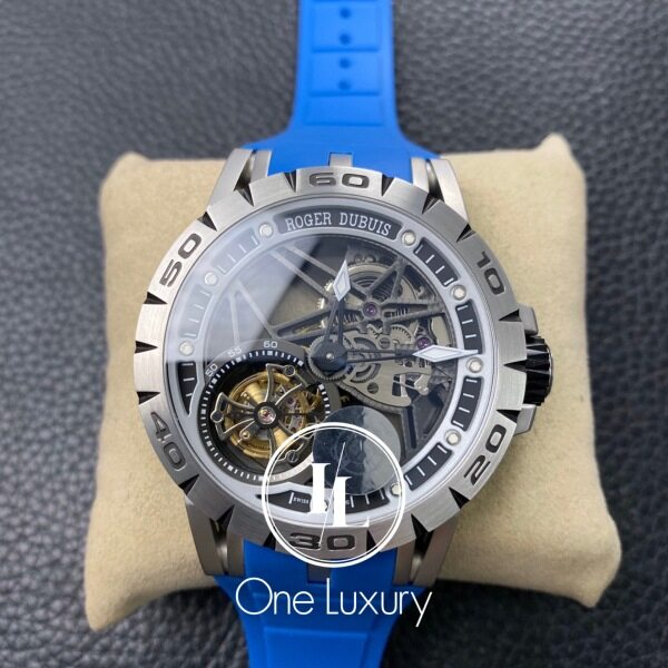 [ONE LUXURY] RD EXCALIBUR RDDBEX0392 REAL TOUBILLON ON BLUE RUBBER STRAP Malaysia