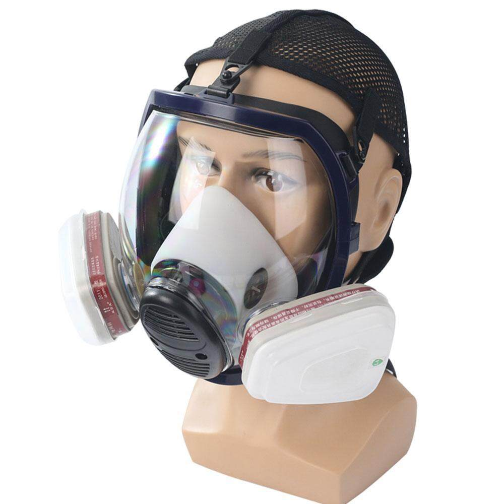 NiceToEmpty Full Face Respirator Mask Double Filter Dustproof Air Breathing Anti Chemical Gas Protection,Dust Mask,FDA Tested,Filters Included
