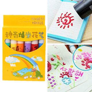 6 Chiếc Magic Bắp Rang Bút Phồng 3D Nghệ Thuật An Toàn Bút Cho Lời Chào Mừng Sinh Nhật Thẻ Trẻ Em thumbnail