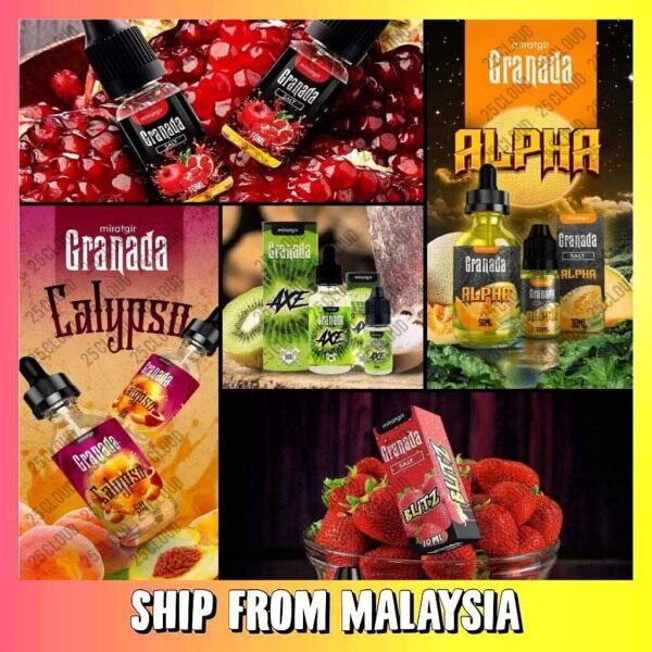 Miratgir Granada Salt 10ML Edition Strawberry Blitz // Pomegranate // Kiwi // Pear Savior // Melon Alpha // Peach Calypso Malaysia