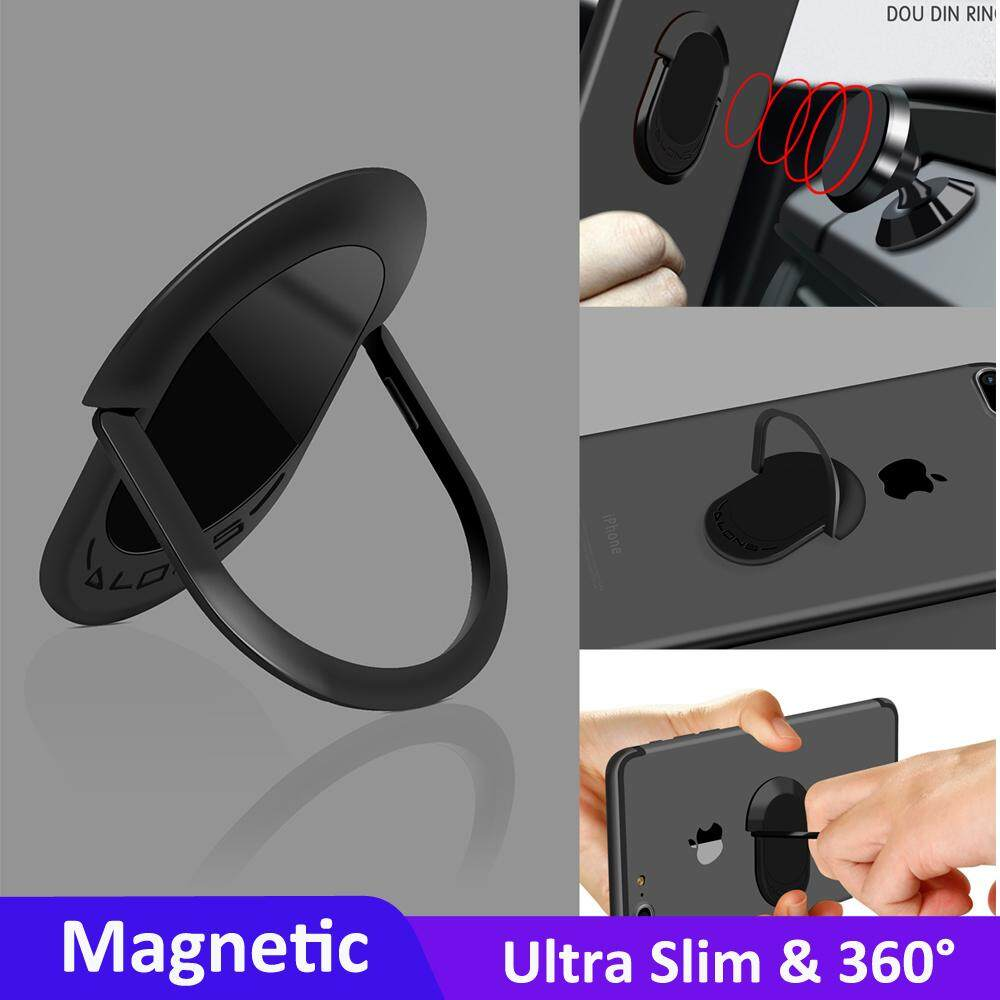 DLONS Dou Din 0.22cm Ring Buckle Rotary Phone Stand for iPhone Android Samsung Huawei XiaoMi etc Cellphone image