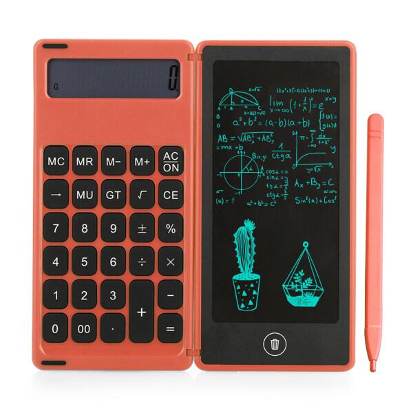 Máy Tính Có Thể Gập Lại & 6 I-nch LCD Viết T-ablet Bảng Vẽ Kỹ Thuật Số Hiển Thị 12 Chữ Số Với Bút Stylus Chức Năng Khóa Nút Xóa Cho Trẻ Em Người Lớn Tại Nhà Văn Phòng Trường Học Sử Dụng