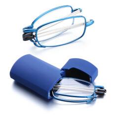 Kính đọc sách gấp thiết kế nhỏ gọn cho nam và nữ phong cách cổ điển kính viễn vọng cho mắt từ 1.0-4.0 độ kèm hộp đựng kính – INTL