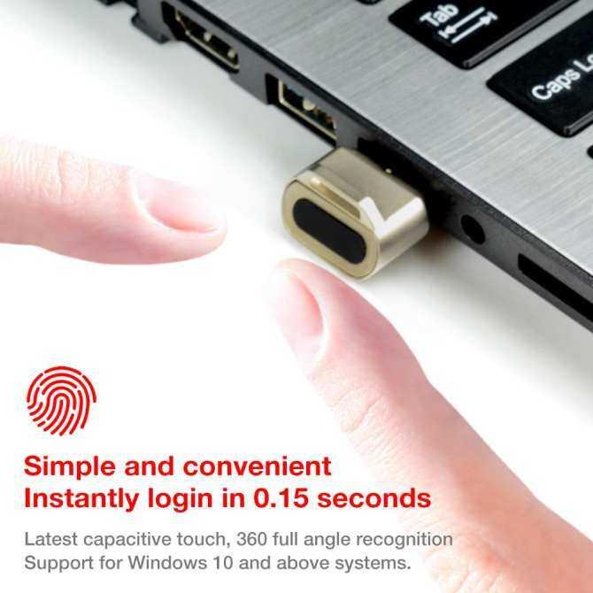USB Fingerprint Reader Login Password Identification Unlock Mini Desktop Laptop Computer Windows Automatic Biometric Security Boot Key Random Color