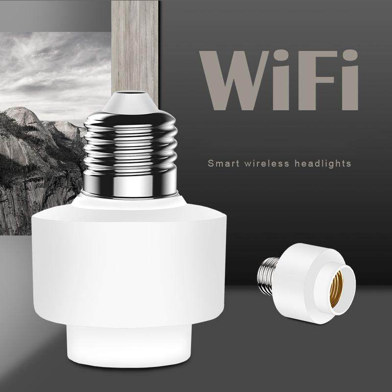 Wifi Smart Light Bulb Holder Wireless Smart Light Bulb Socket Wireless Lamp Holder Works With Alexa Google Home Ifttt For Smart Home Bulbs Base And Fixtures E27 By Fuyuequan Store.