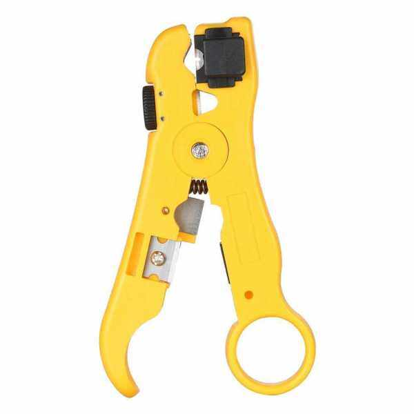 TNI-U TU-352 Multifunctional Wire Stripper for RG59/11/7/6 Cable Cutter Stripping Tool (Standard)