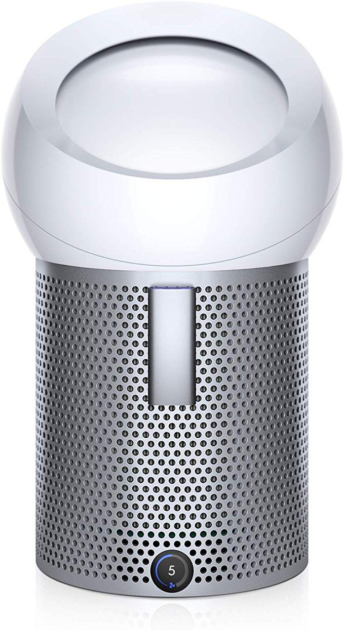 Dyson Pure Cool Me Personal Purifying Fan, BP01 HEPA Air Purifier & Fan, Removes Allergens, Pollutants, Dust, Mold, VOCs, for Desks, Bedside, Side Tables, White