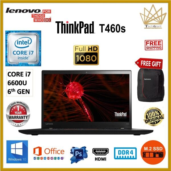 (ULTRA SLIM) LENOVO THINKPAD T460s CORE i7 (6TH GEN) 14 FHD / Up to 20GB DDR4 / 1TB M.2 SSD / WINDOWS 10 PRO /  14 FULL HD SCREEN / LENOVO THINKPAD T460 S / REFURBISHED / ULTRABOOK / BUSINES SERIES LAPTOP Malaysia