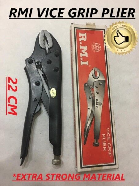 22CM R.M.I High Quality Vise Grip Locking Plier Multi Purposed Extra Strong Material