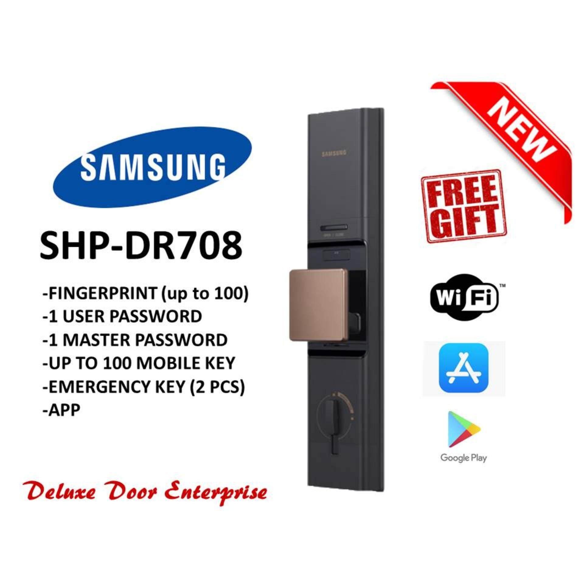 Samsung SHP-DR708 Smart Digital Door Lock  (Bronze)(philips/keywe/Hafele/Yale/St Guchi)