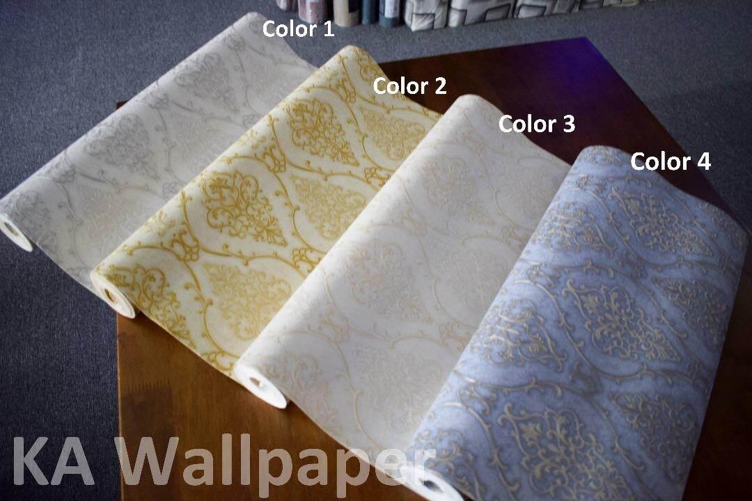 Classic Wallpaper Deep Embossed Royal design kertas dinding