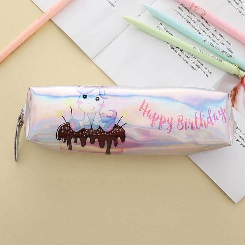 Acagedem Unicorn Kotak Pensil untuk Anak Perempuan Anak Laki-laki Hologram Pena Laser Tas Mahasiswa Kapasitas Besar Kotak Pensil Lucu Tas Alat Tulis Persediaan Sekolah