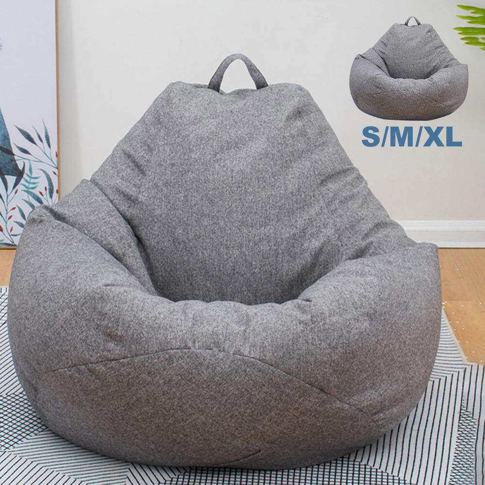 Adults Kids Large Bean Bag Chairs Couch Sofa Cover Indoor Lazy Lounger For