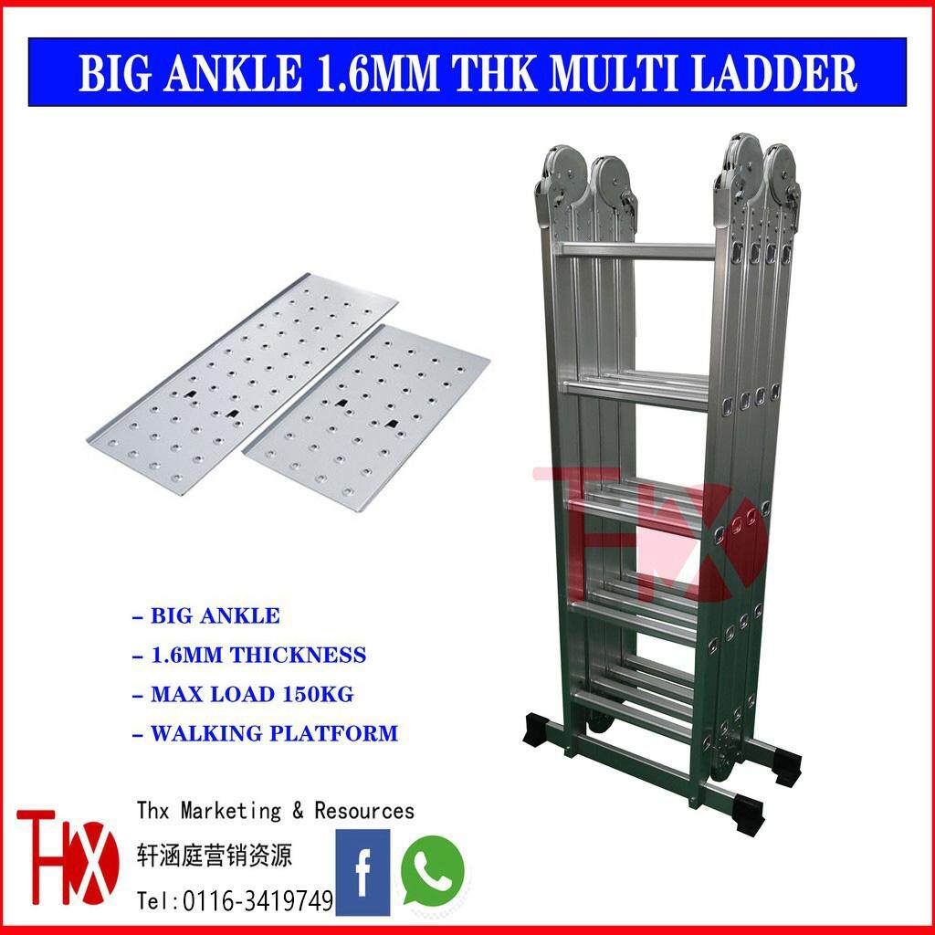 20Feet Heavy Duty Multi Purpose Ladder With Walking Platform 1.6mm Thickness