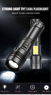 Đèn Pin Kusoth XHP70 + COB Di Động, Đèn Pin Chiếu Sáng Mạnh, Hợp Kim Nhôm, Kính Viễn Vọng, Cổng Sạc USB, Chống Nước IPX4, Dùng Ngoài Trời thumbnail