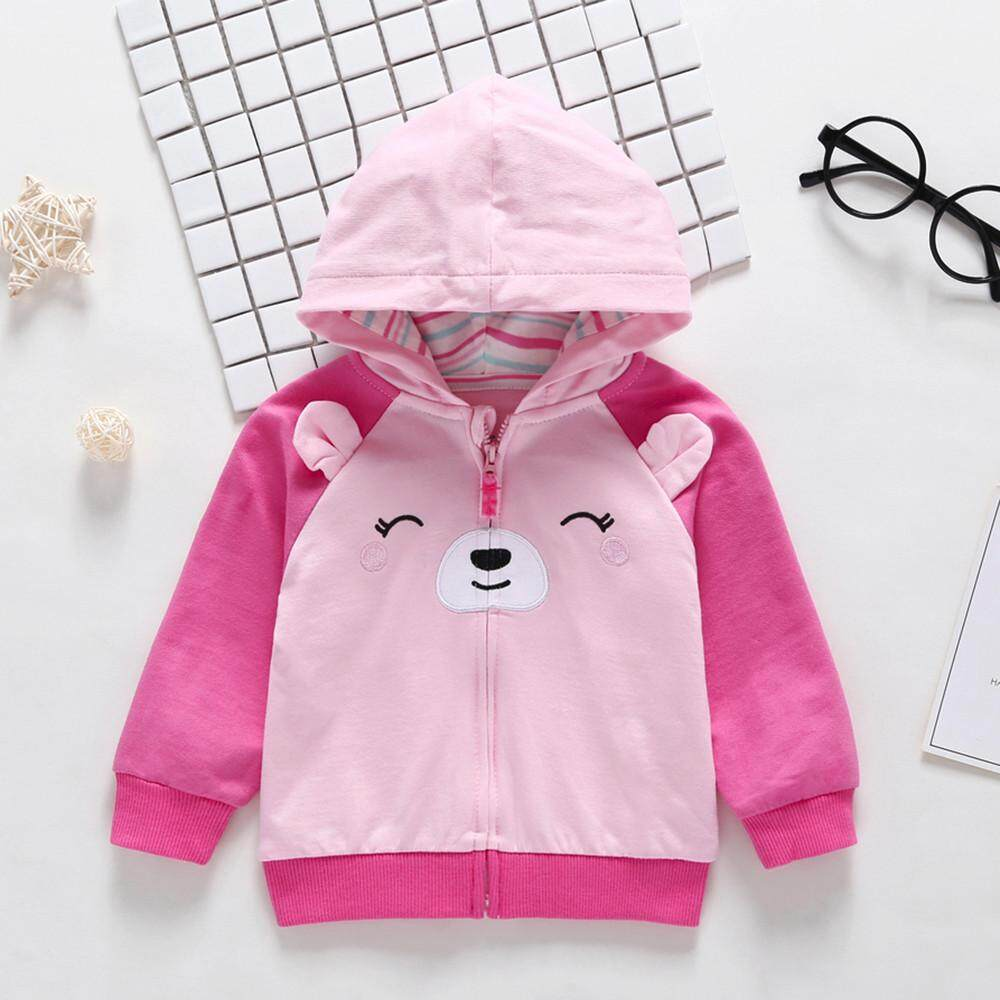 bf238e028 Coats For Girl Toddler Baby Boys Dog Ears Long Sleeve Tops Hoodie Zip Warm  Outfits Coat Clothes