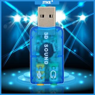 Card Âm Thanh USB Ngoài JTKE 5.1, Micro USB Sang Tai Nghe 3D Đầu Ra Bộ Chuyển Đổi Âm Thanh MIC Cho Máy Tính Xách Tay IOS thumbnail