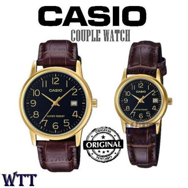 CASIO ORIGINAL MTP-V002GL-1B AND LTP-V002GL-1B ANALOG COUPLE WATCH (MTP-V002GL) (LTP-V002GL) Malaysia