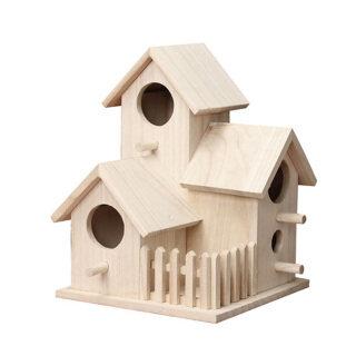 Nhà Gỗ Tổ Chim Treo, Trang Trí Vườn Nhà, Nhà Trong Nhà Mới thumbnail