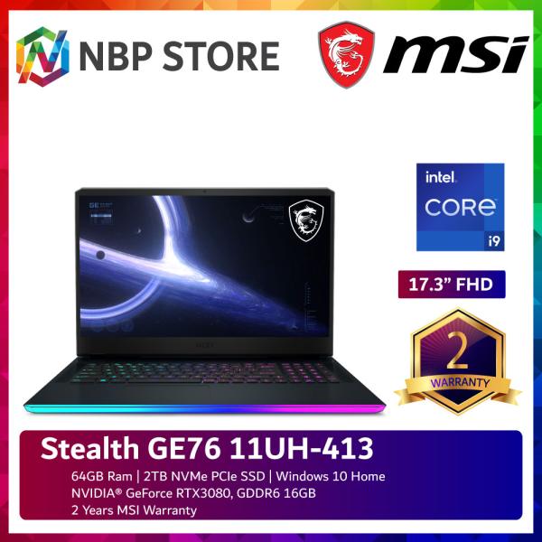 MSI Stealth GE76 11UH-413 17.3 FHD Gaming Laptop ( i9-11980HK, 64GB, 2TB SSD, RTX3080 16GB, W10 ) Malaysia