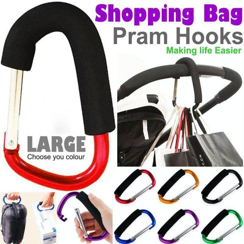 1* Multicolor Metal Baby Activity Buggy Pram Hanger Large Hand Carry Pushchair Holder Shopping Bag Hooks Baby Stroller Clips Singapore