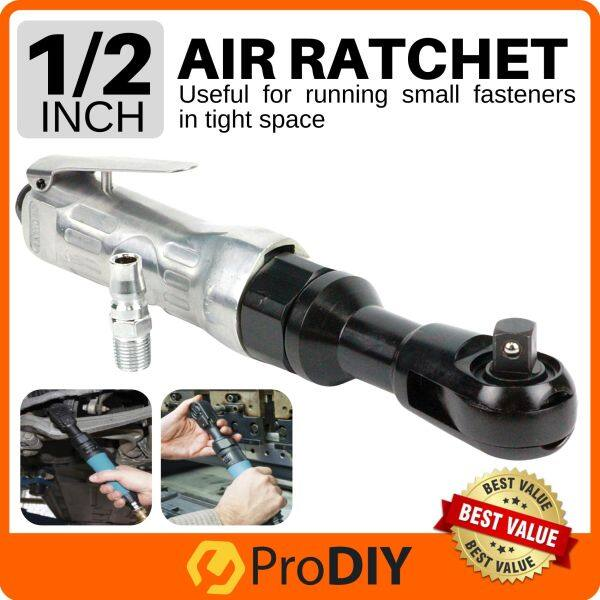 1/2 Inch Air Ratchet Square Head Drive Air Powered Drive Angle Impact Ratchet Socket Wrench ( Stainless Steel )