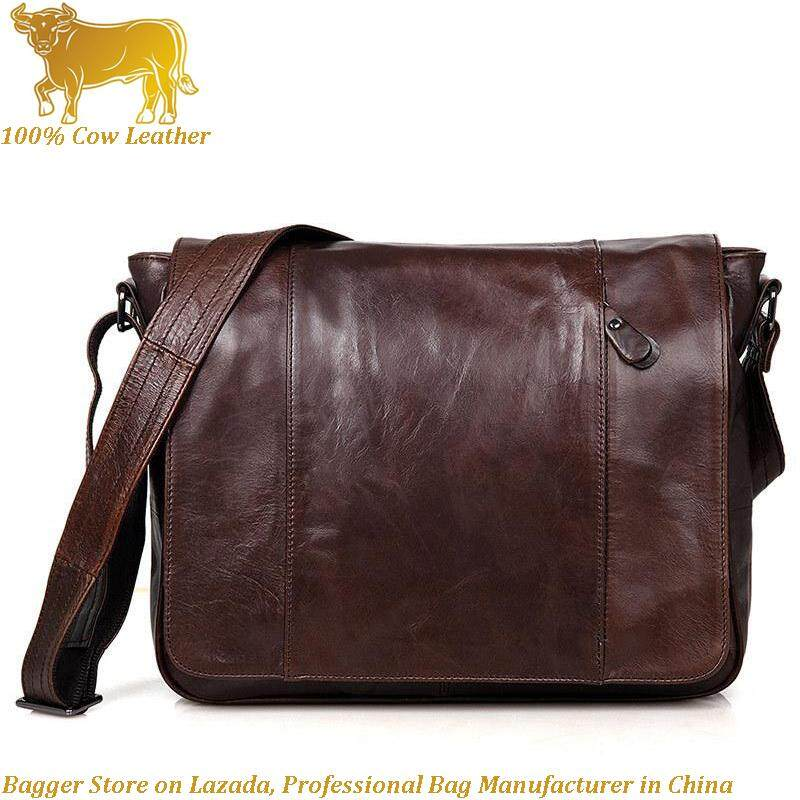 fce8ae82ff38 Retro Europe Men Messenger Bag Business Casual Sling Shoulder Bag Genuine  Cow Leather Crossbody Bags