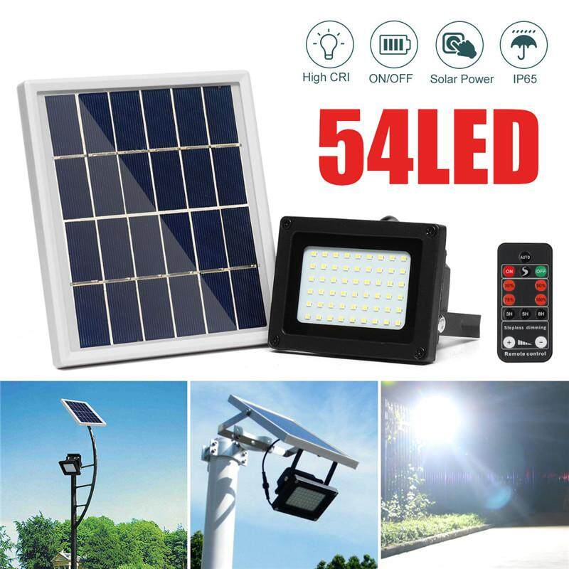 【Free Shipping + Flash Deal】 54LED Solar Powered Flood Light Outdoor Walkway Park Street Lamp + Remote Control