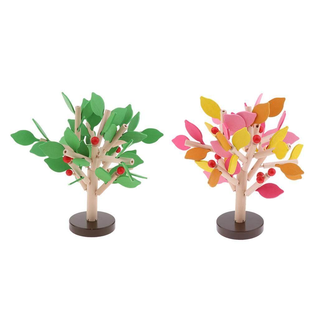 BolehDeals 2Pack Preschool Children 3D Wooden Assembled Tree Puzzle Toy Montessori Toys