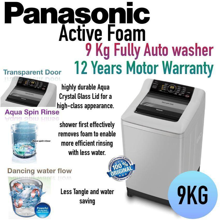 Panasonic Top Load Washer 9kg ActiveFoam System NA-F90A4HRT
