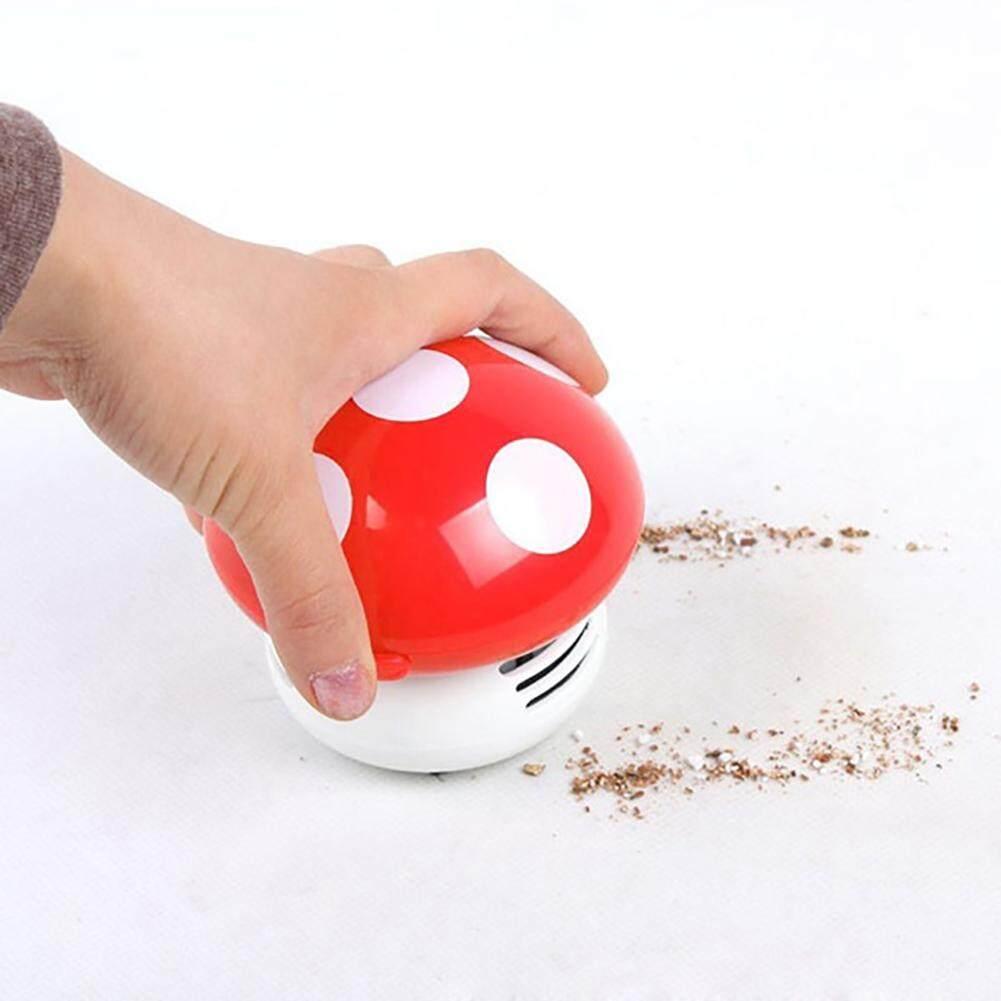 Dễ thương Cầm tay Quét Mini Nấm Góc Bàn Bàn Bụi Máy Hút Bụi Swivel Sweeper 8