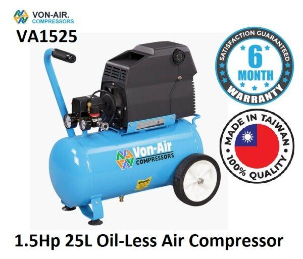Von-Air VA 1.5HP 25Litre Portable Quiet Oil-Free Air Compressor