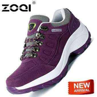 ZOQI รองเท้ากีฬาผู้หญิงแฟชั่นรองเท้าหนาด้านล่างที่มีคุณภาพสูงกลางแจ้งรองเท้ารองเท้ากีฬา-
