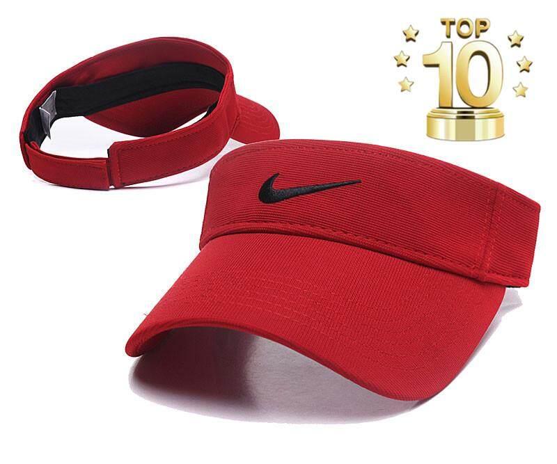 Nike Topi Pelindung Matahari Wanita dan Pria, Topi Tenis Golf Pantai Polos Dapat Disesuaikan Kualitas Tinggi 2019