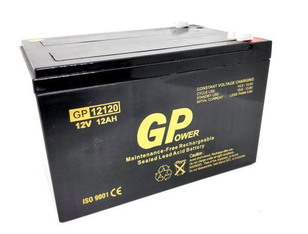 GPOWER 12V 12AH PREMIUM Rechargeable Sealed Lead Acid Battery For Electric Scooter/ Toys car / Bike /Solar /Alarm /Autogate Malaysia