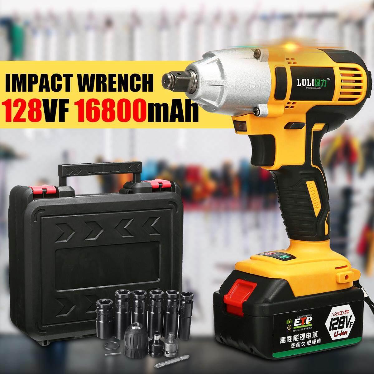 16800mAh 220V Cordless Impact Wrench Drill 1/2 Li-on Battery Driver DIY Tool
