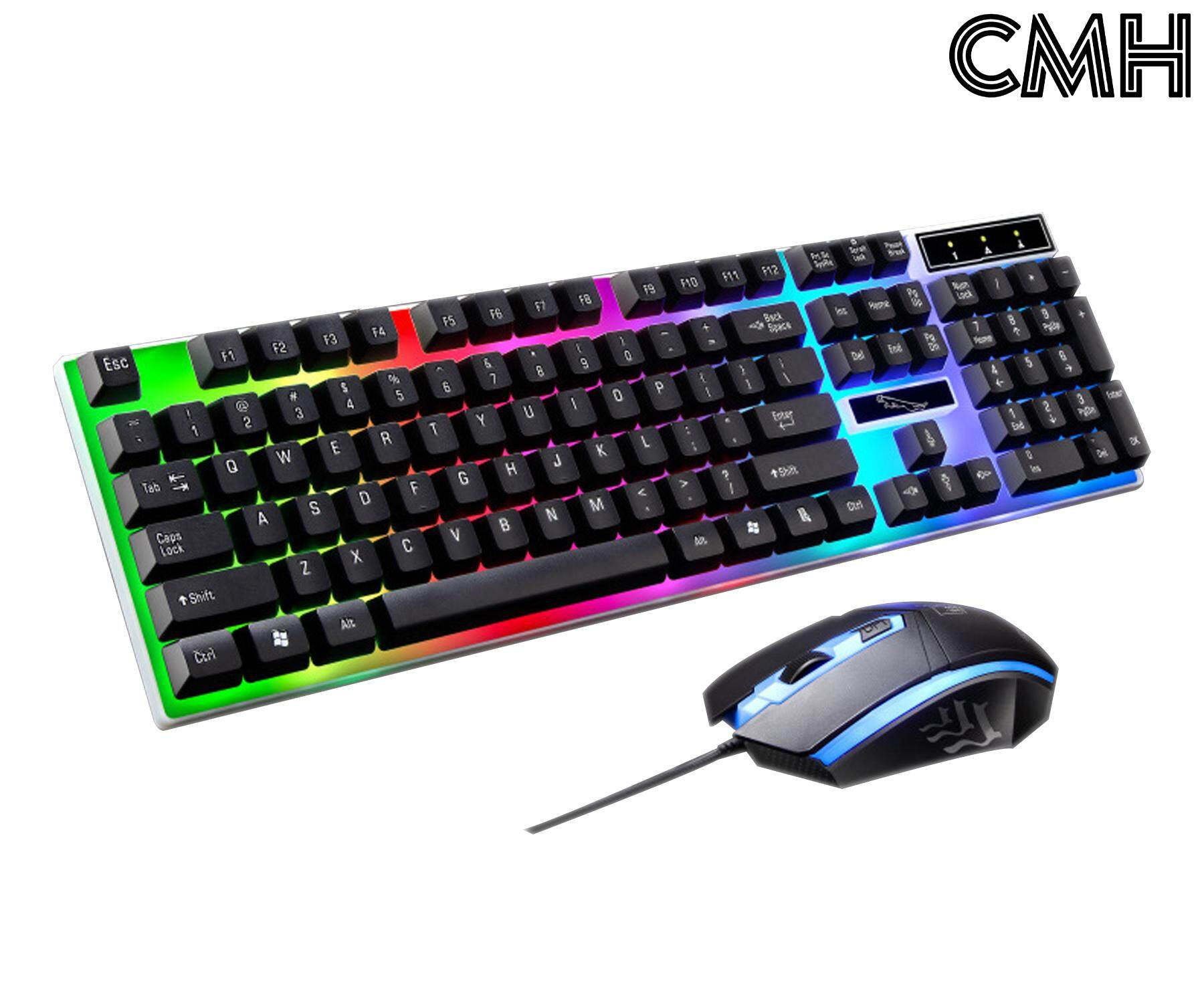 602b88be6e9d CMH USB Wired Mechanical Keyboard and Mouse Combo With Borderless Rainbow  Backlight For PC/Laptop. Illuminated Keyboard and Mouse Combo Set For  Gaming ...