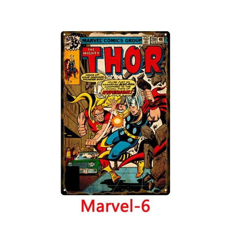 Anh Hùng Marvel Truyện Tranh Kim Loại Iron Man Đăng Retro Kim Loại Thiếc Áp Phích Bảng Hiệu Pub Mảng Bám Kim Loại Nội Thất Cổ Điển Giấy Đề-can Dán Tường Nghệ Thuật Đồ Trang Trí Quán Bar 30*20 Cm N806