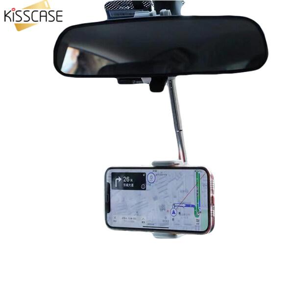 KISSCASE Giá Gắn Gương Chiếu Hậu Xe Hơi Mới 2021 Người Giữ Điện Thoại, Điện Thoại Di Động Ghế Ngồi GPS Tối Đa 360 Độ Cho iPhone 12 11 Pro Giá Đỡ Điện Thoại Trên Xe Hơi Có Thể Điều Chỉnh Hỗ Trợ